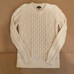 Gap cream cable knit sweater s